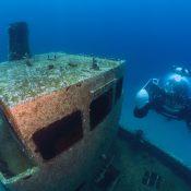 U-Boat Worx private submarine C-Explorer 3 diving in Malta near wreck