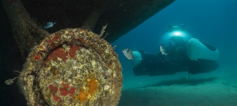 U-Boat Worx private submersibles C-Explorer 3 - wreck diving in Malta