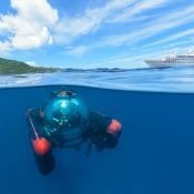 U-Boat Worx private submersible C-Explorer 3 uses as Tourist submarine in the Seychelles
