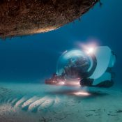 Private submarine wreck diving