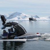 M/Y Legend submarine diving Antarctica