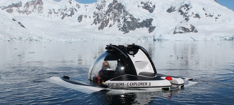 M/Y Legend submarine in Antarctica